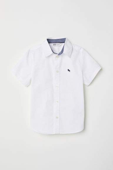 Short-sleeved shirt - White -  | H&M CN