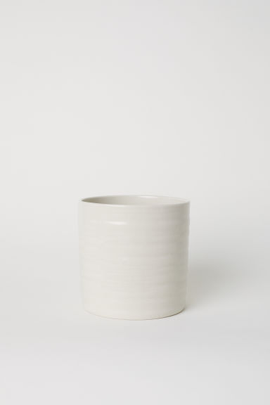 Stoneware plant pot - Light beige - Home All | H&M CN
