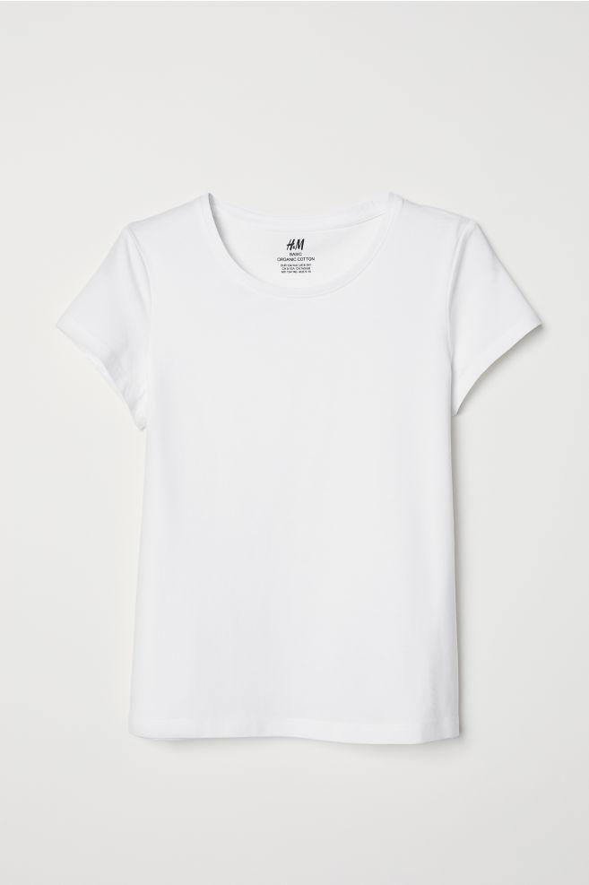 4a540026 T-shirt i bomull - Hvit - BARN | H&M ...