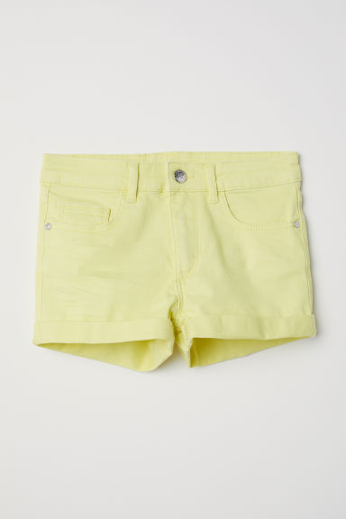 Twill shorts - Light yellow - Kids | H&M CN
