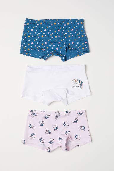 3-pack boxer briefs - Light pink/Unicorns - Kids | H&M