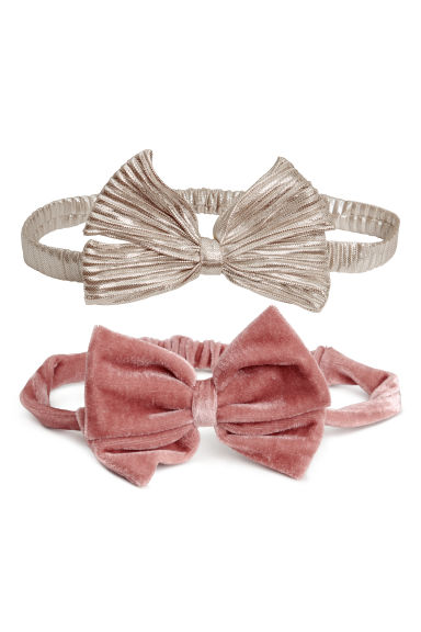 2-pack hairbands with a bow - Old rose - Kids | H&M CN