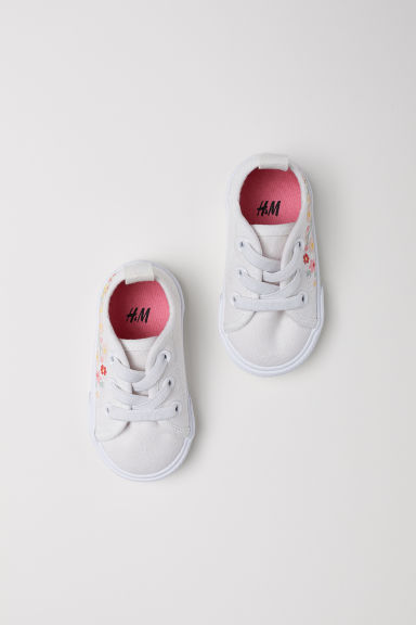 Trainers - White/Flowers - Kids | H&M