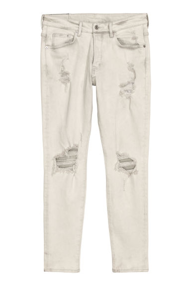 Trashed Skinny Jeans - Light grey denim - Men | H&M