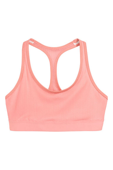 Sports bra Low support - Light pink - Ladies | H&M CN