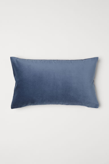 Fluwelen kussenhoes - Donkerblauw - HOME | H&M NL