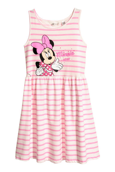 Robe sans manches en jersey - Rose clair/Minnie -  | H&M BE