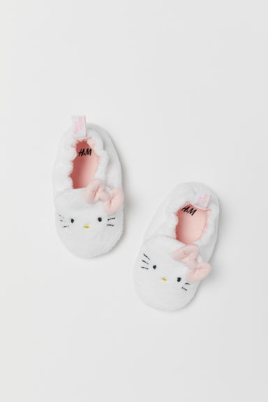 Chaussons en velours - Blanc/Hello Kitty - ENFANT | H&M BE