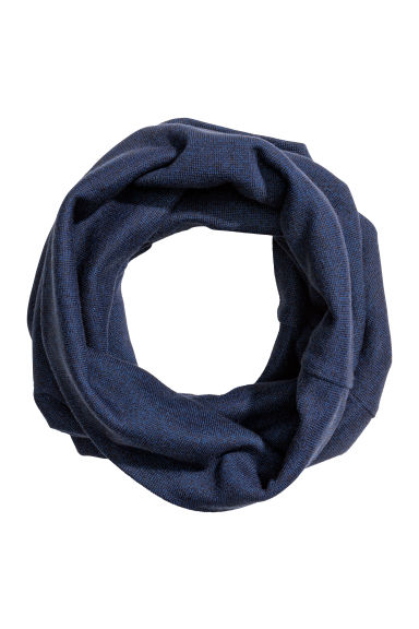 Jersey tube scarf - Dark blue -  | H&M CN