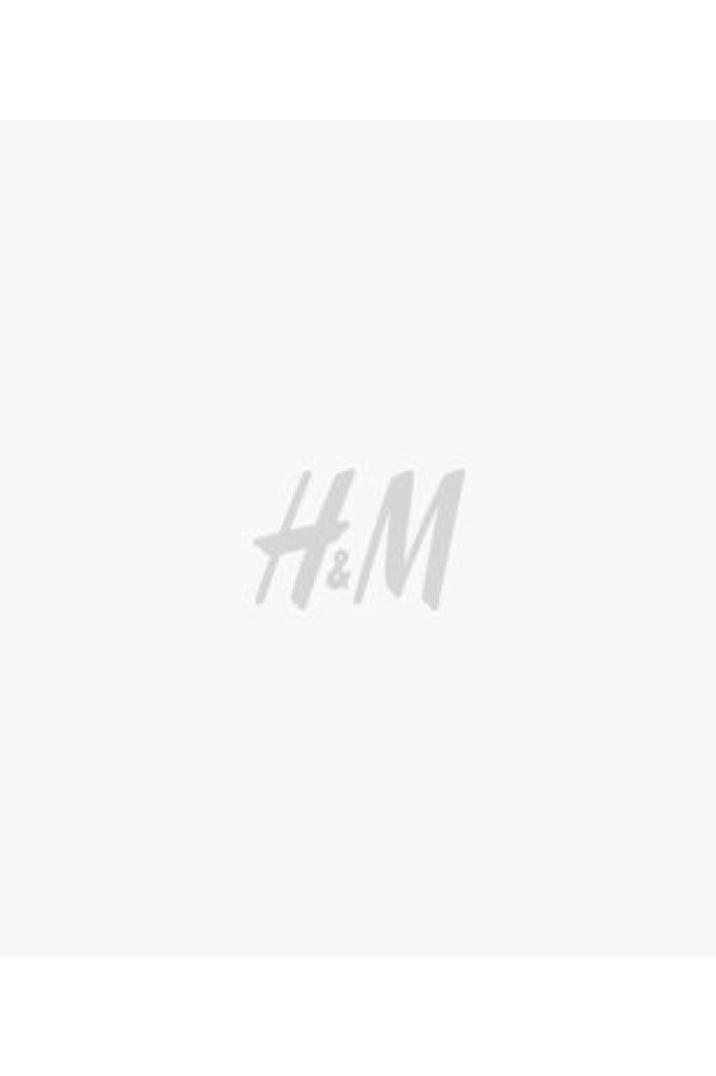 Crêped Dress - Light beige/patterned - Ladies | H&M US 1