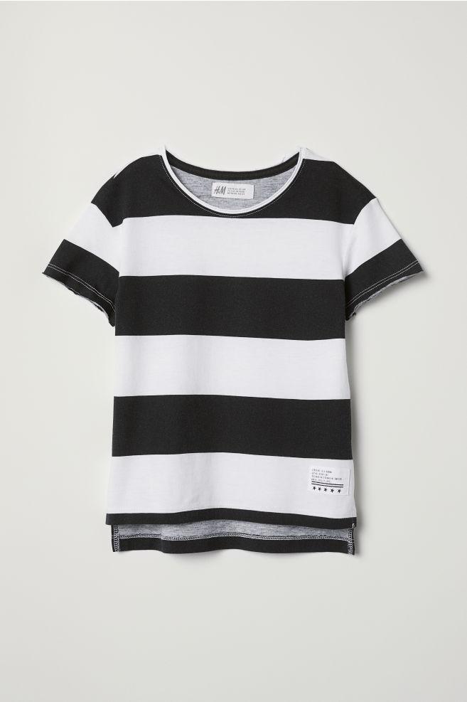 c2b5db4ebd29 Cotton T-shirt - White/Black striped - Kids | H&M 1