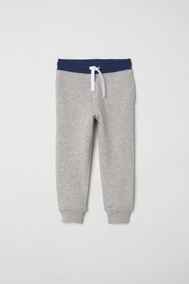 Joggers - Grey marl/Dark blue - Kids | H&M CN