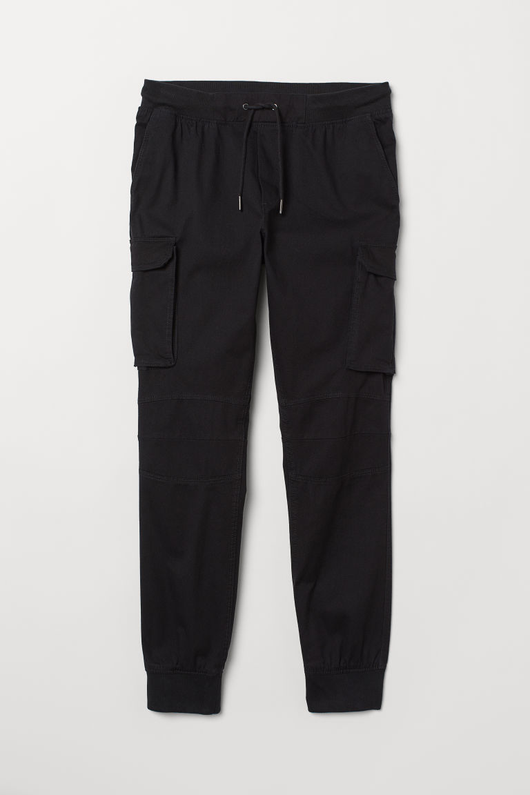 Cargo joggers - Black - Men | H&M CN