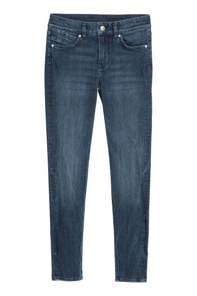 Pantalon stretch - Bleu denim foncé -  | H&M BE