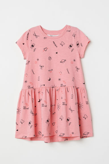 Patterned dress - Pink/Patterned - Kids | H&M CN
