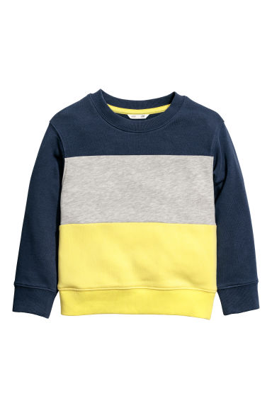 Sweatshirt - Dark blue/Block coloured - Kids | H&M