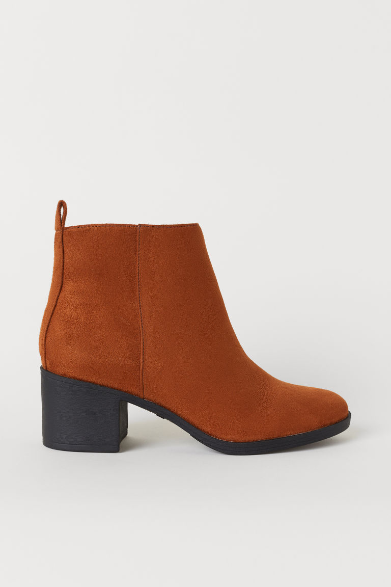 Ankle boots with a zip - Brown - Ladies | H&M