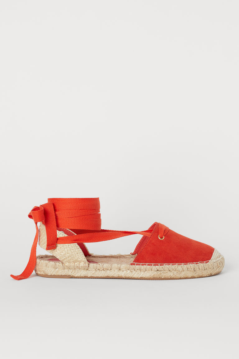 Espadrilles with lacing - Dark orange - Ladies | H&M GB