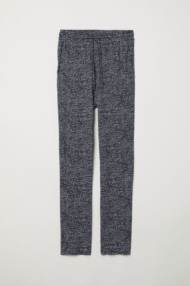 Joggers in jersey - Blu scuro/bianco pois - DONNA | H&M IT