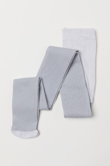 Glittery tights - Silver-coloured - Kids | H&M