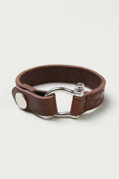 Leather bracelet - Brown - Men | H&M CN