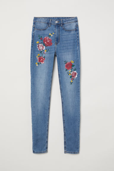 Super Skinny High Jeans - Blu denim/fiori - DONNA | H&M IT