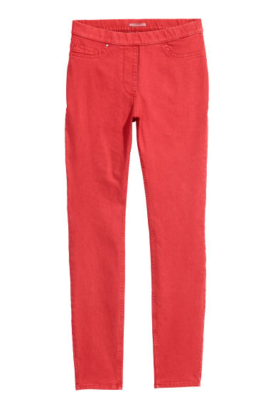 H&M+ Superstretch treggings - Red - Ladies | H&M CN