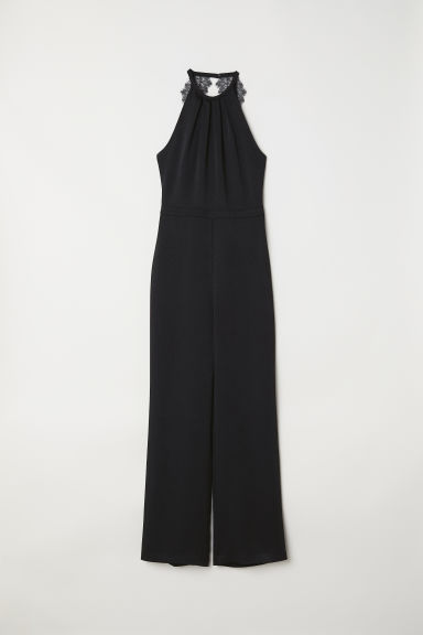 Sleeveless jumpsuit - Black - Ladies | H&M CN