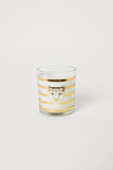 Candela profumata in vasetto - Bianco/Clean Cotton - HOME | H&M IT