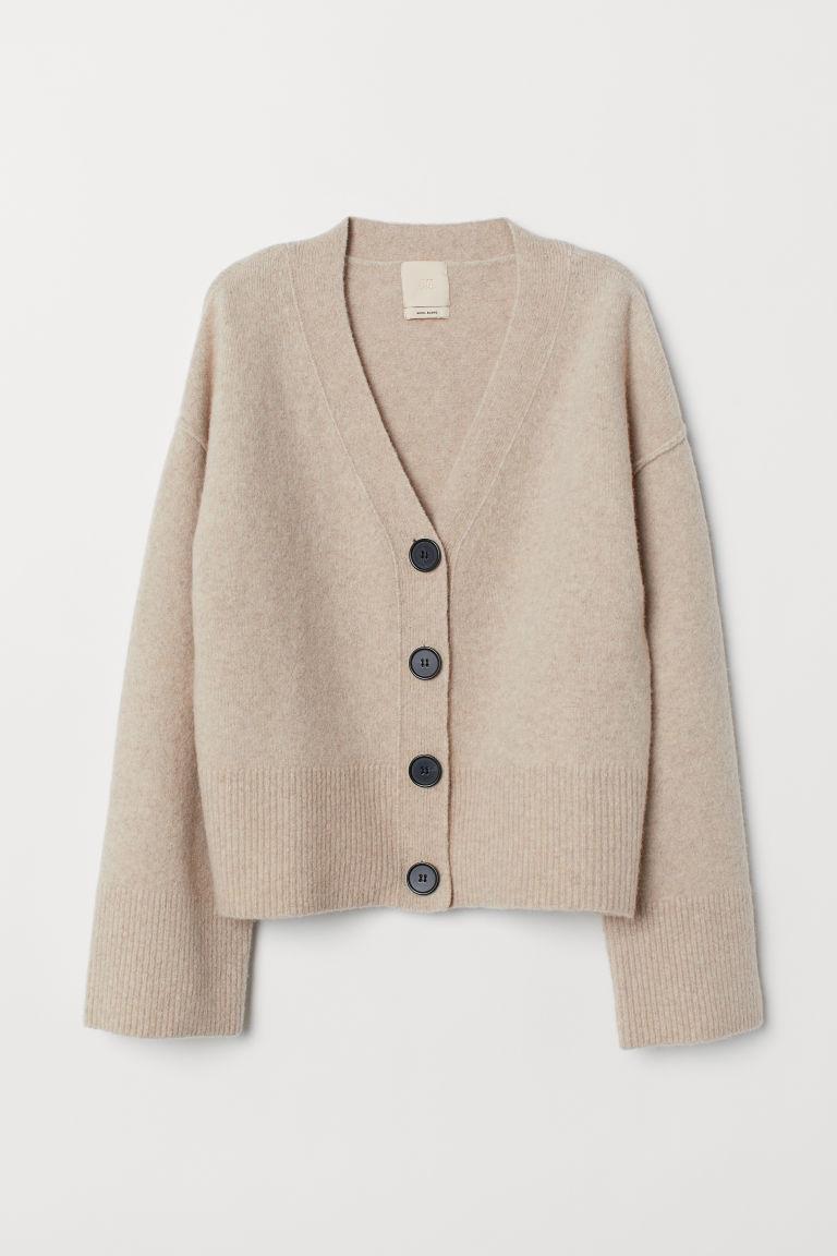 1bd5c31c1a15 Wool-blend Cardigan - Beige - | H&M US