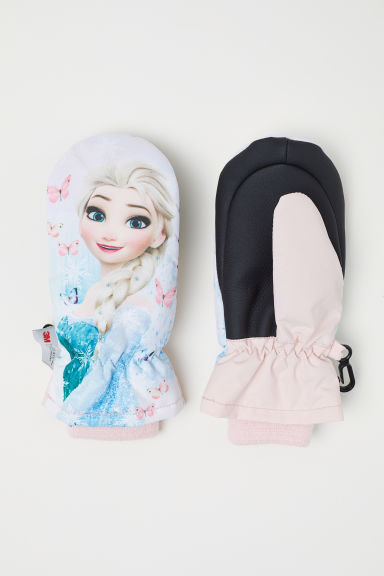 Ski mittens - Light pink/Frozen - Kids | H&M