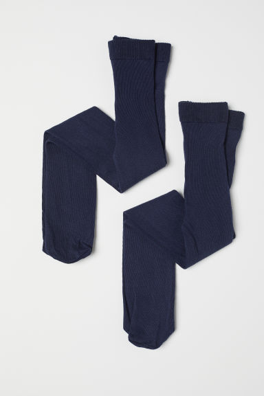 2-pack tights - Dark blue - Kids | H&M
