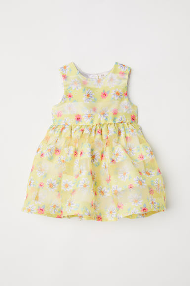 Patterned dress - Light yellow/Floral - Kids | H&M CN
