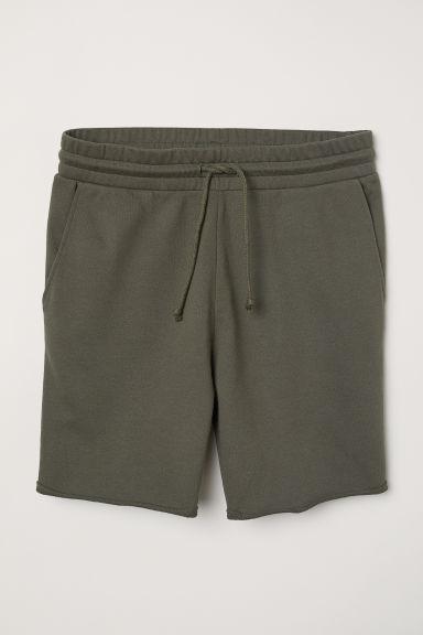 Shorts in felpa - Verde kaki scuro - UOMO | H&M IT