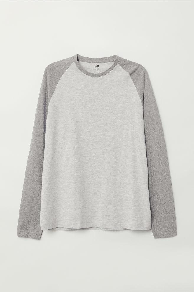 54cdbc4a Baseball Shirt - Gray melange - Men | H&M ...