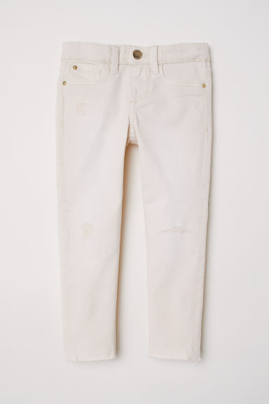 Twill trousers Skinny Fit - Natural white -  | H&M