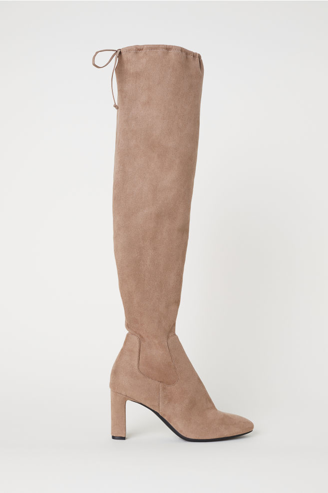 caaa4400aaec47 Thigh-high Boots - Dark beige - Ladies