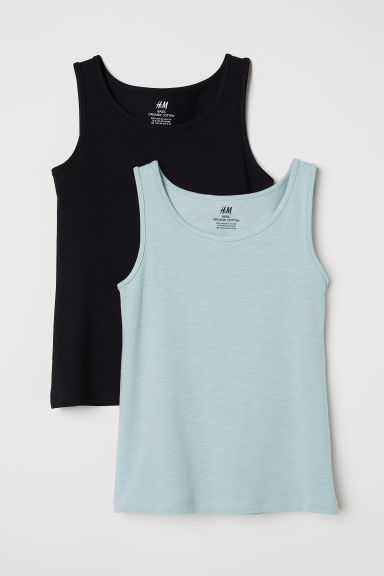 2-pack vest tops - Turquoise - Kids | H&M CN