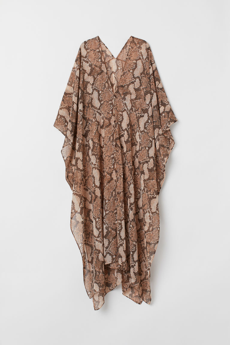 Kaftan with buttons - Snakeskin-patterned - Ladies | H&M