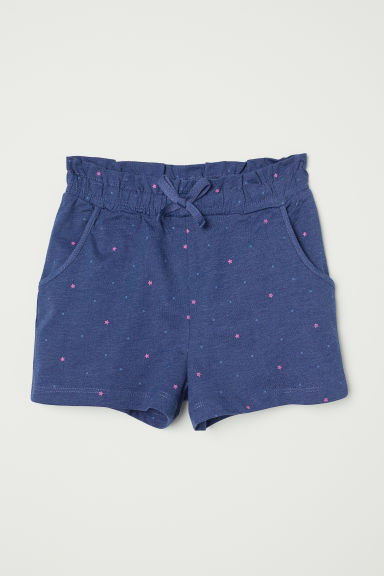 Shorts in jersey - Blu scuro/stelle - BAMBINO | H&M IT
