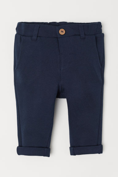 Tailored jersey trousers - Dark blue - Kids | H&M CN