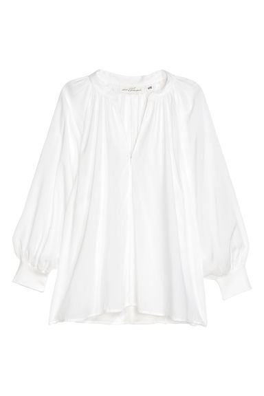 Modal blouse - White - Ladies | H&M CN