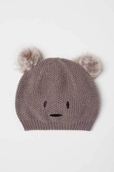 Knitted hat with ears - Mole - Kids | H&M CN
