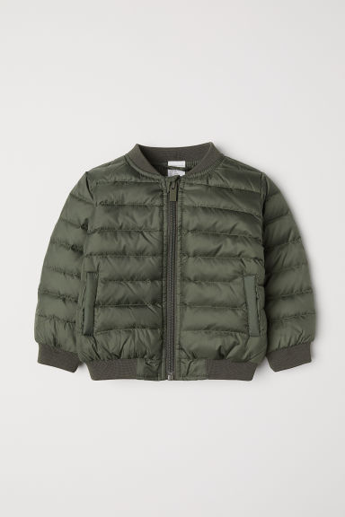 Down jacket - Khaki green -  | H&M