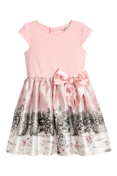 Dress with a flared skirt - Light pink -  | H&M