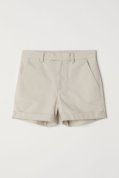 Twill shorts - Light beige - Kids | H&M