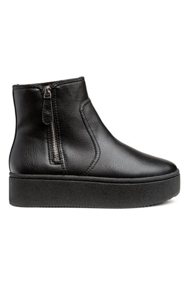 Bottines à plateau - Noir -  | H&M BE