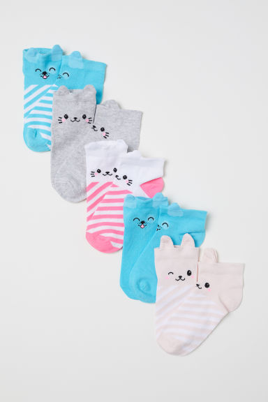 5-pack trainer socks - Turquoise -  | H&M