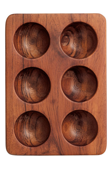 Wooden egg stand - Dark wood - Home All | H&M IE