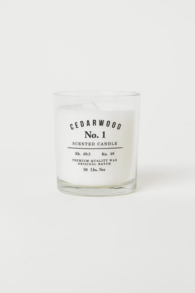 Candela profumata in vasetto - Bianco/Cedarwood - HOME | H&M IT
